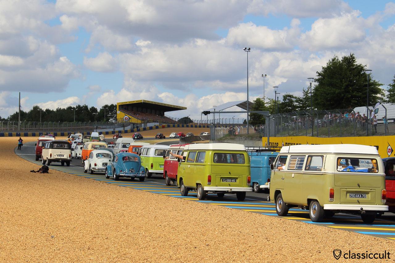 VW fans on race track