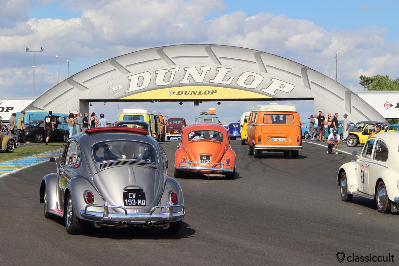 Classic VWs on Le Mans Race Track