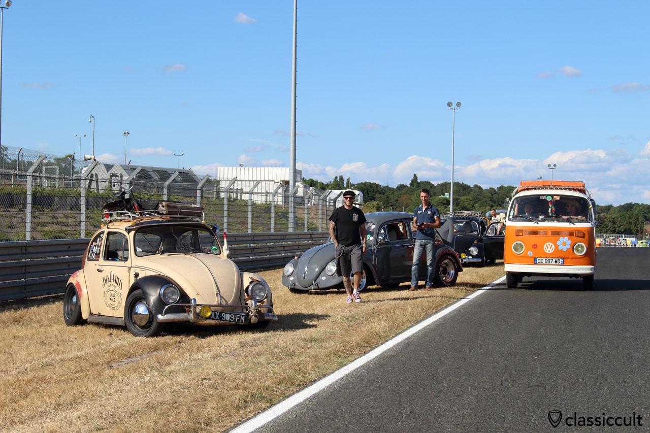 VW Fans taking a break at the Le Mans race track