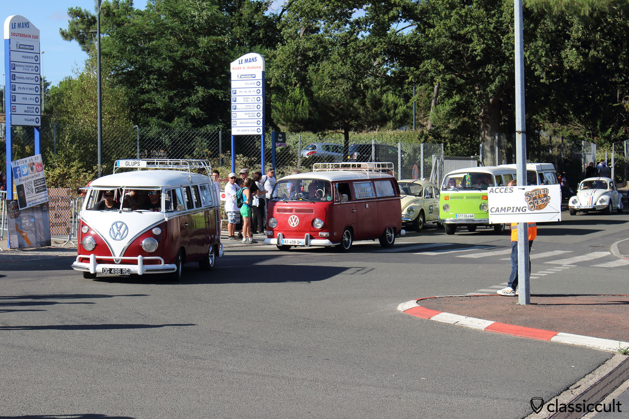 VW fans just finishing the grand parade, Saturday 25th July, 6:19 p.m.