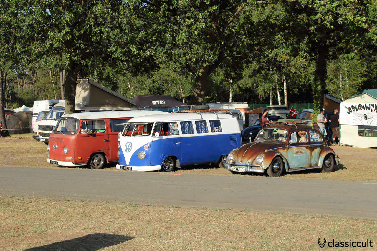 T2a, T1, VW Cox, Camping du Houx