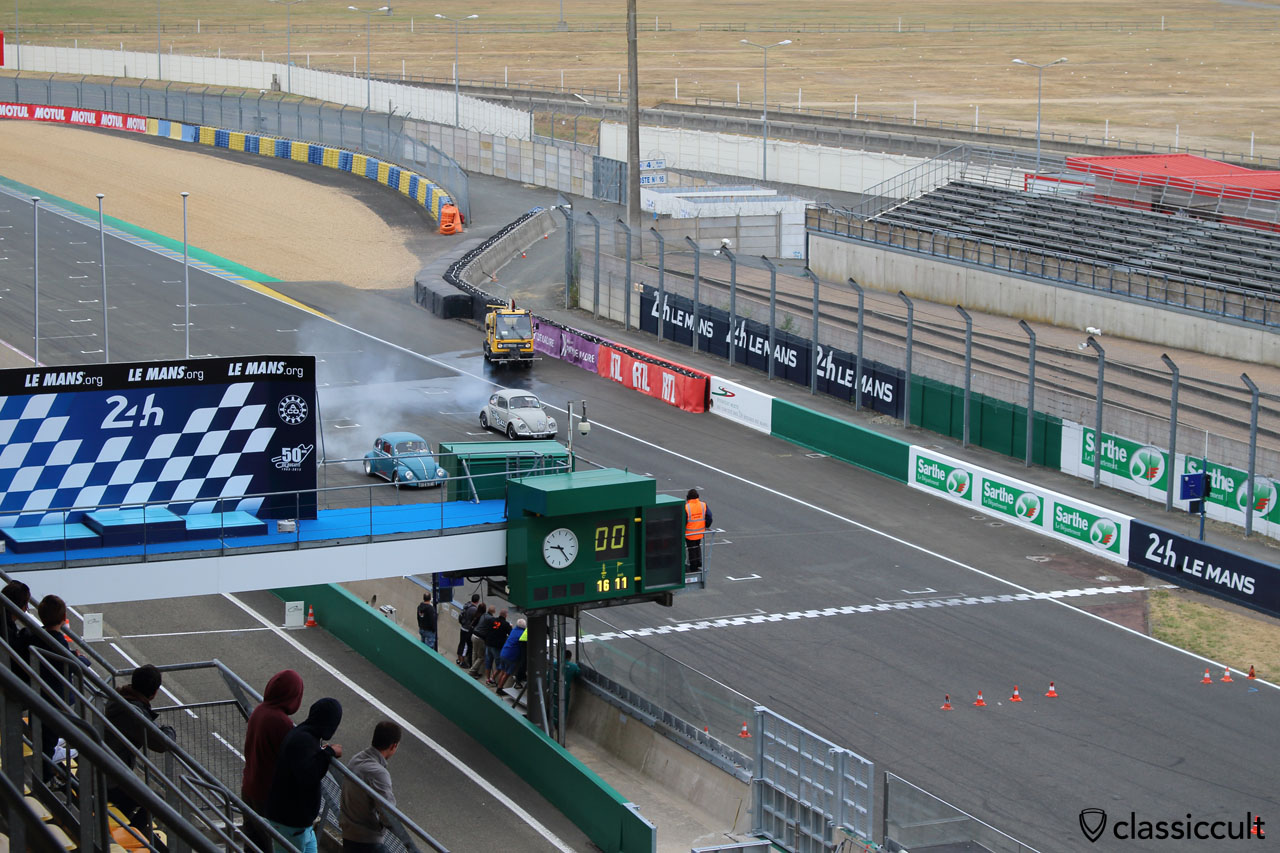 Super VW Festival race, Le Mans 24h race track, the view from visitor stand is not good