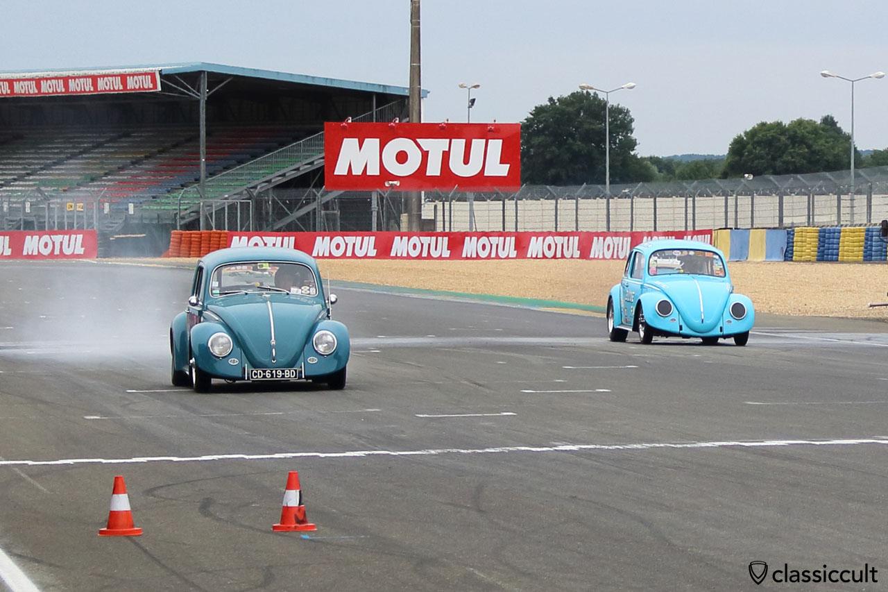 VW Race Beetle burn out