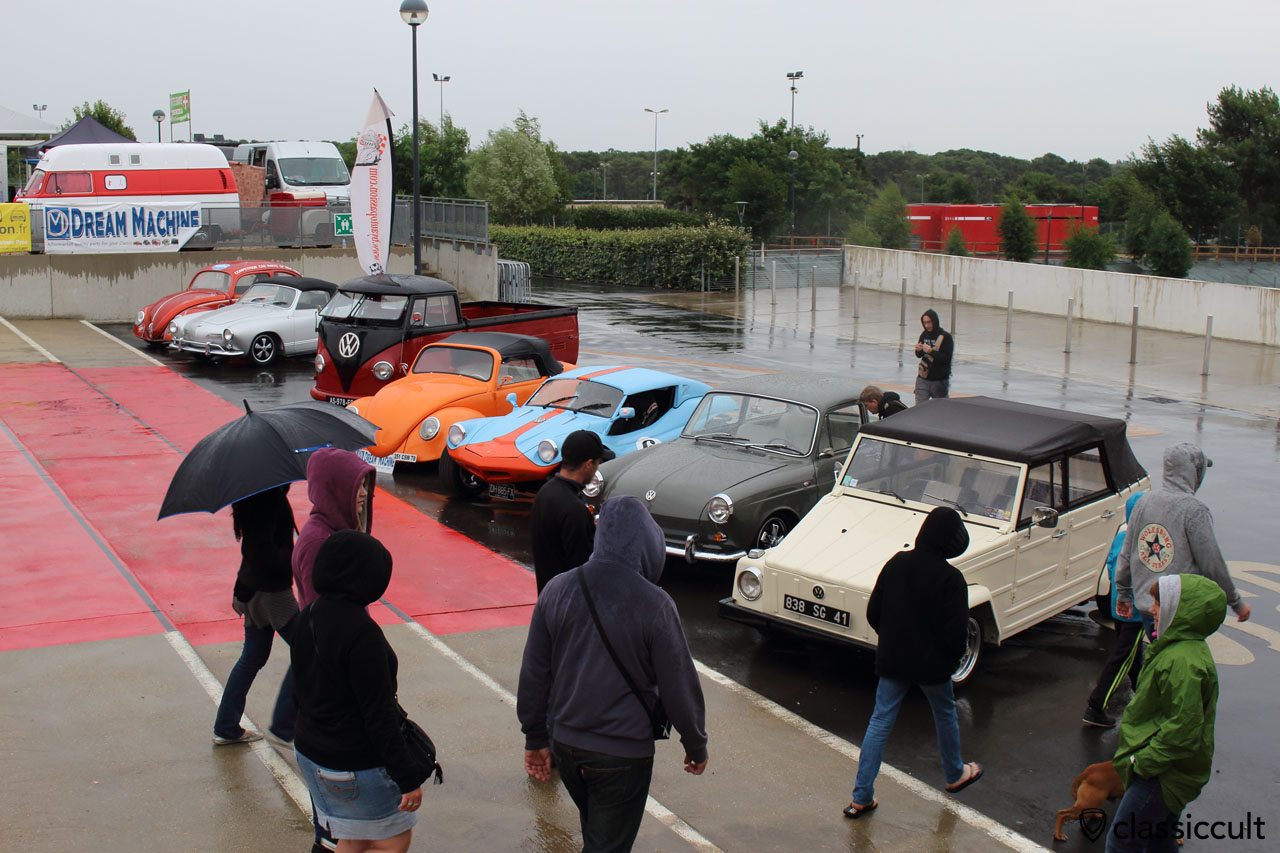 bad weather arrived at Show & Shine, 11:58 a.m.