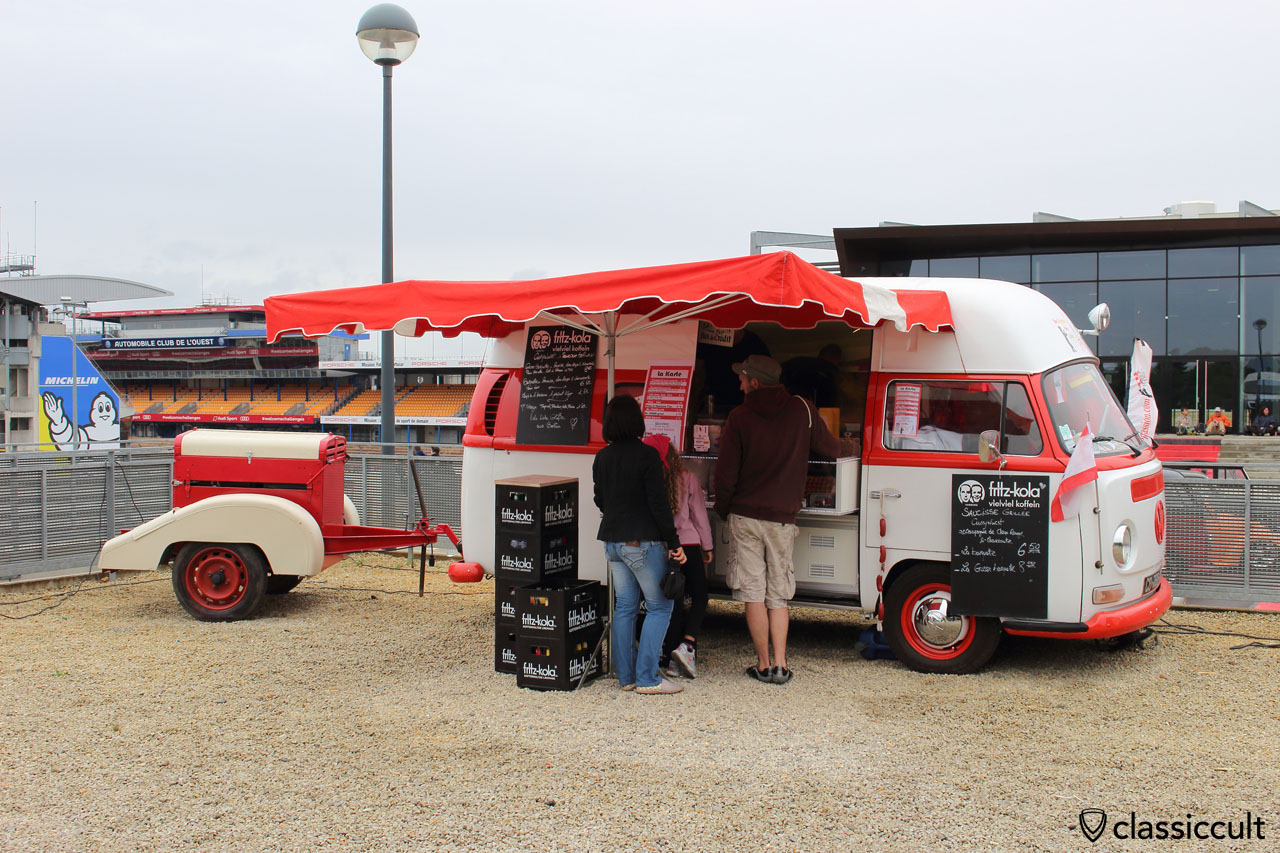 lunch time, VW T2 food truck, 12:50 p.m.