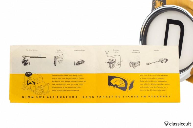 SWF D Plate Accessories Brochure SWF 1955