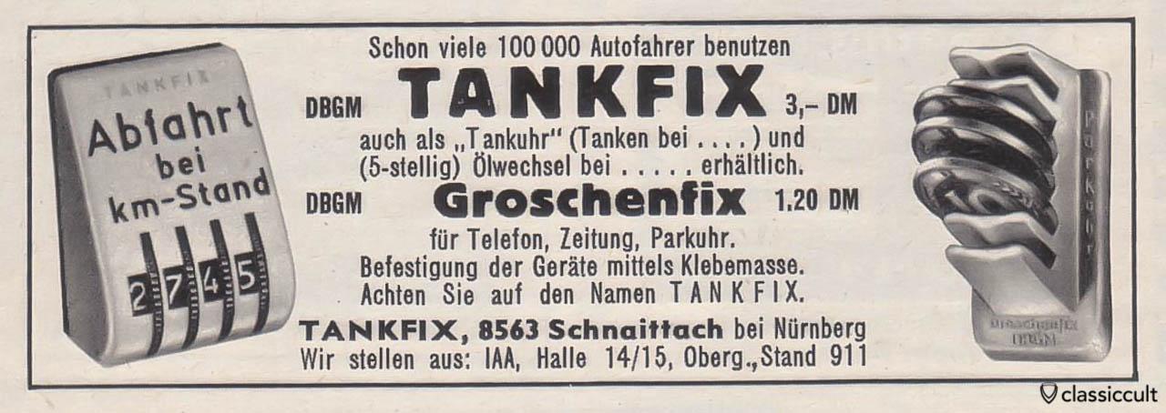 Tankfix mileage counter VW Gute Fahrt 07-1963