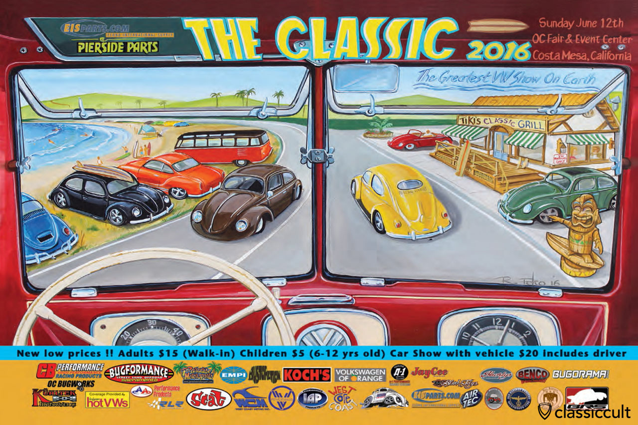 The Classic 2016 Flyer, VW Show, June 12, Costa Mesa, California
