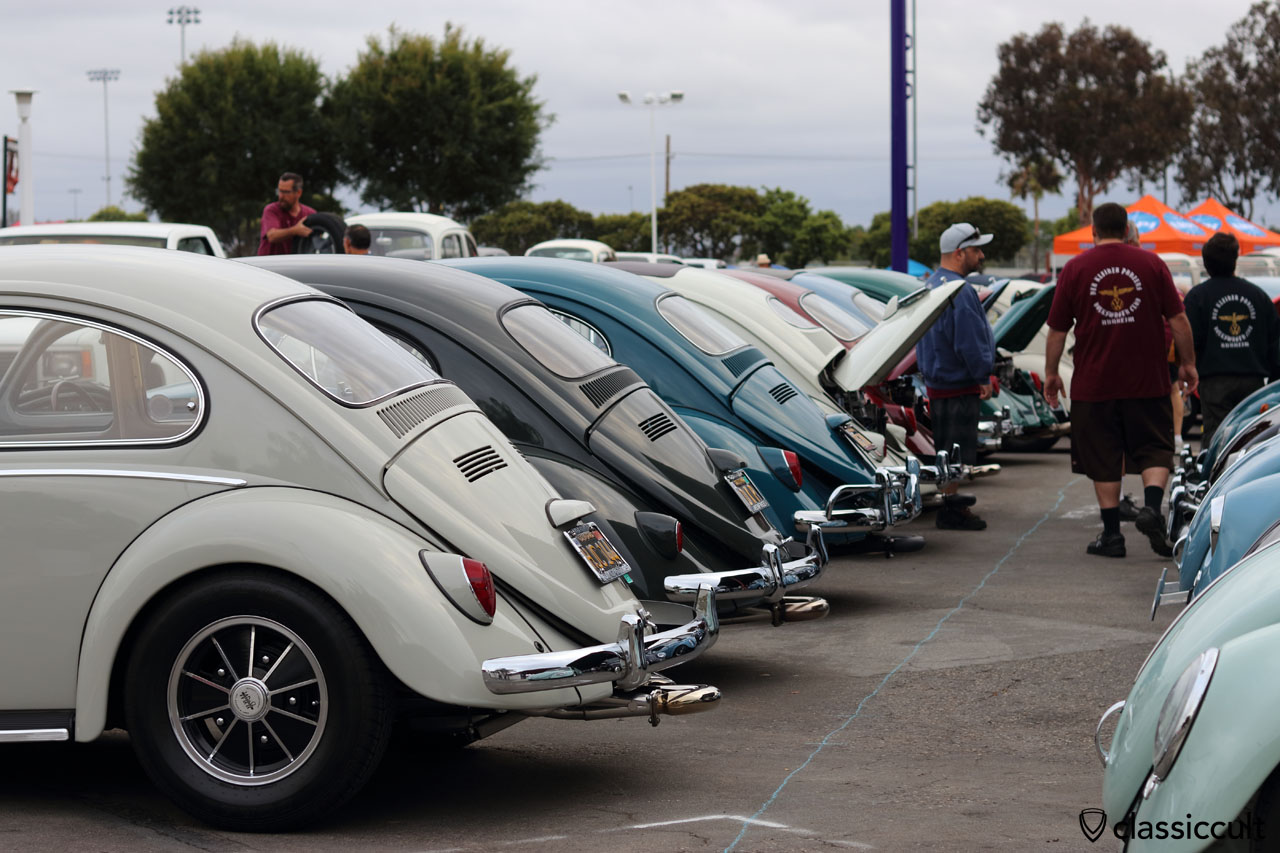 Cal-Look VW Beetles, rear view