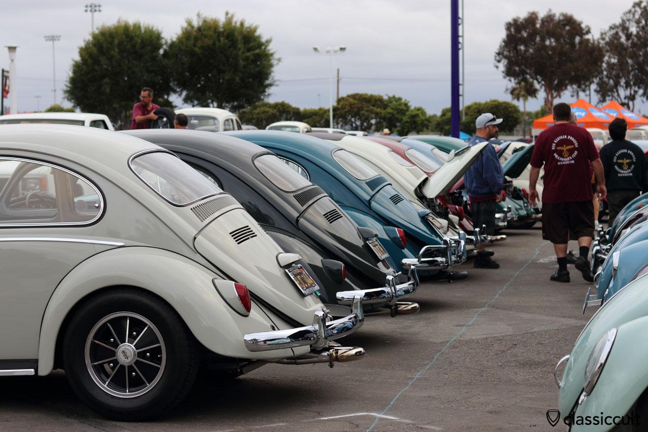Cal-Look VW Beetles, rear view