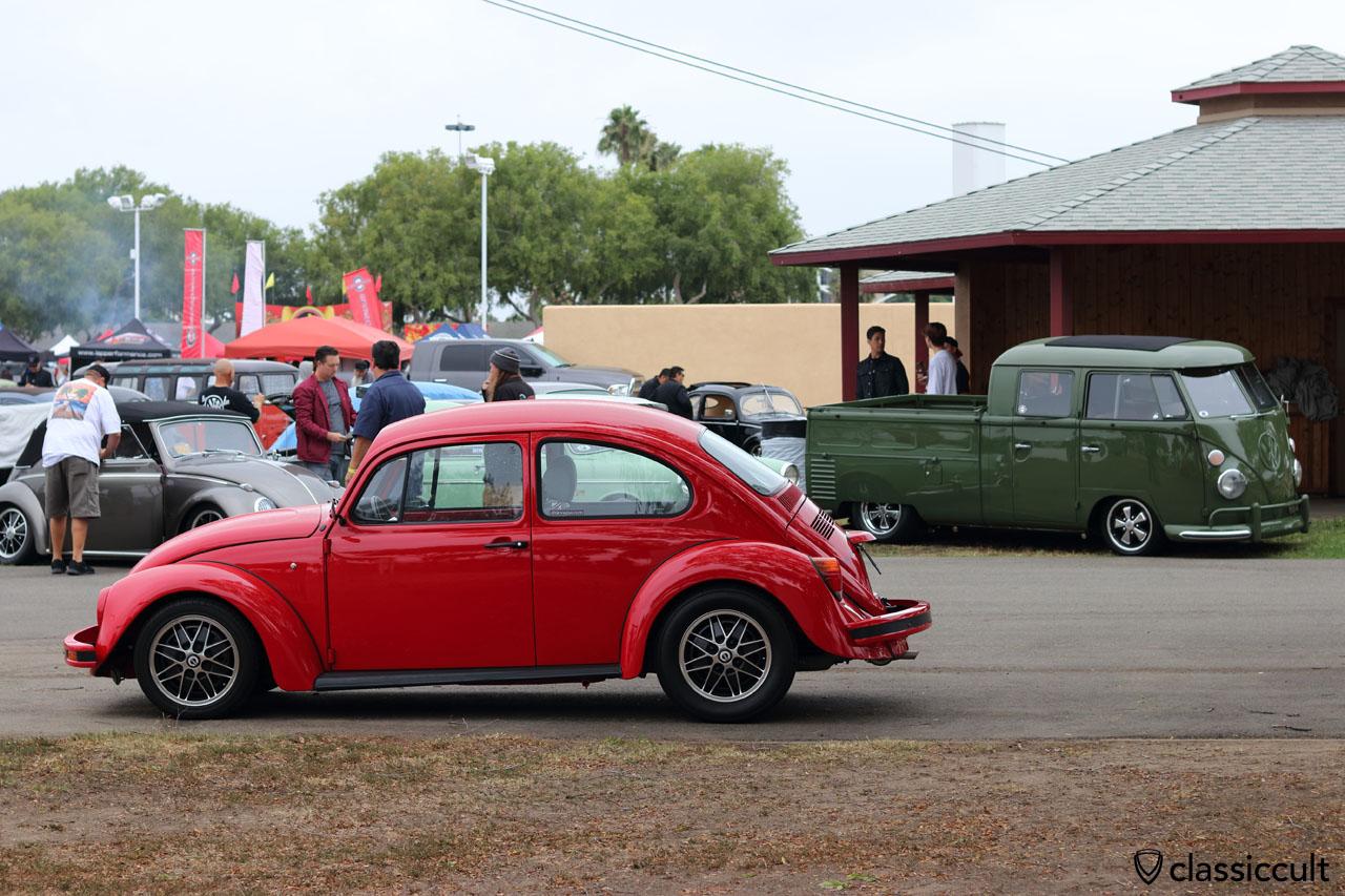red VW Bug with COSMIC wheels, dbkvegas.com