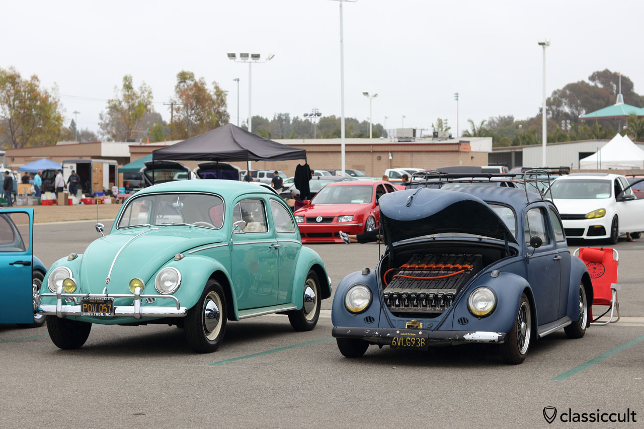 Classsic VW Bug with Electric Motor and Battery with parts from EV West