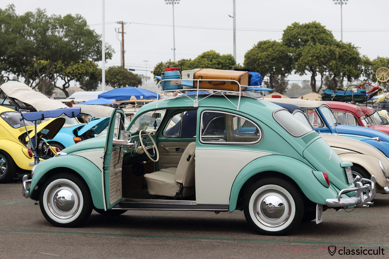 VW Beetle with roof rack