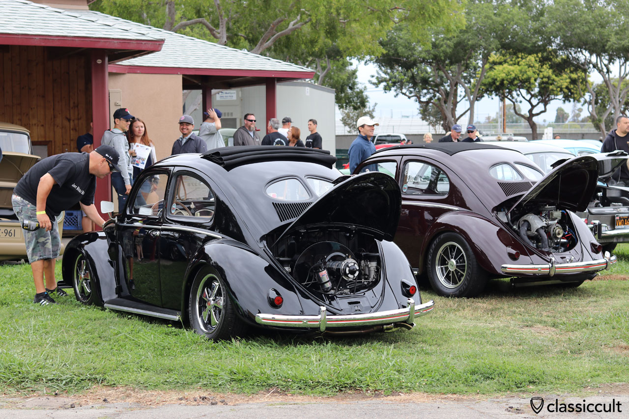 lowered Split Beetle, Der Blitzkrieg Kafers VW Club, So Cal, VW Classic 2016