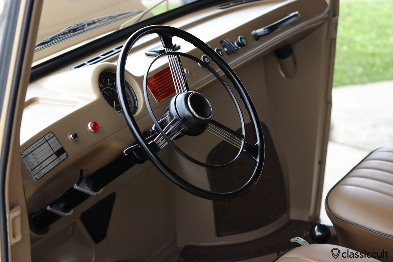 VW Fridolin dash view