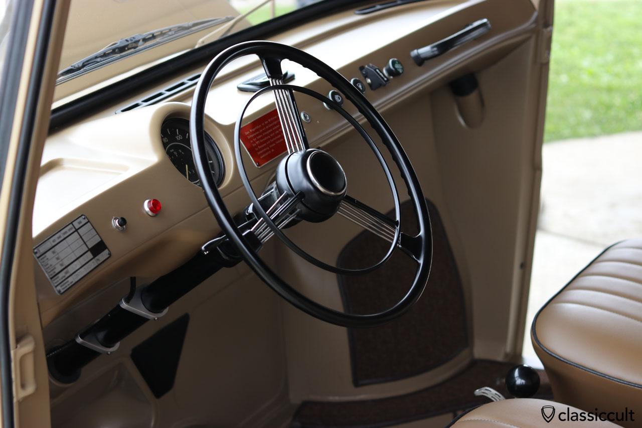 VW Fridolin dash view