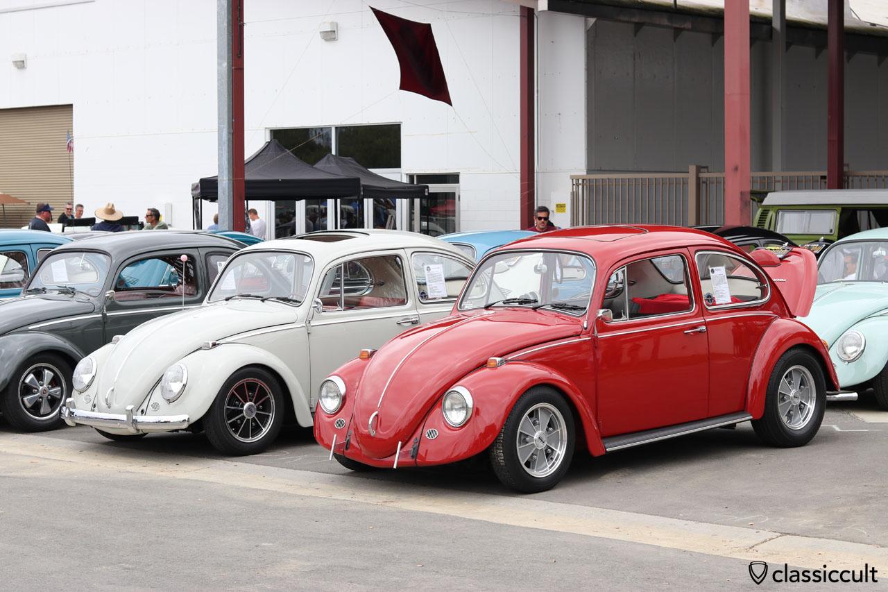 1967 Sunrooof Sedan California Look VW in ruby red, DKP Club