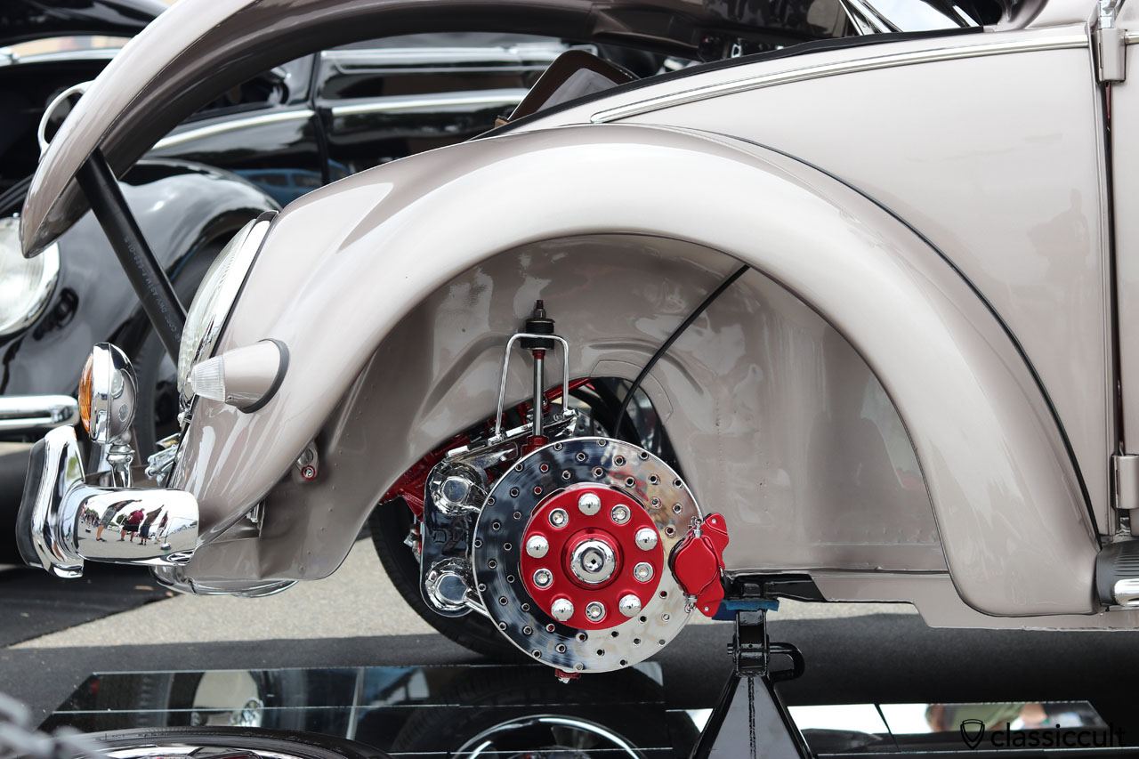 polished VW Oval Vert front axle and brake