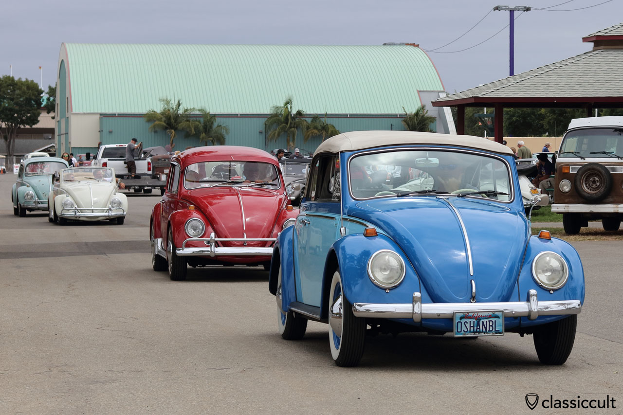 VW Fans cruising home, THE CLASSIC Show, 1:53 p.m., 12th June, 2016, Costa Mesa, California