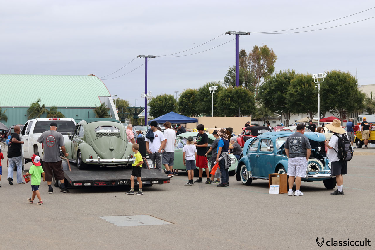 VW fans getting ready to drive home after a long day at The Classic 2016