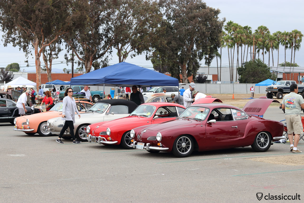 VW Ghia fans getting ready to drive home, The Classic 2016, 2:15 p.m., California, USA