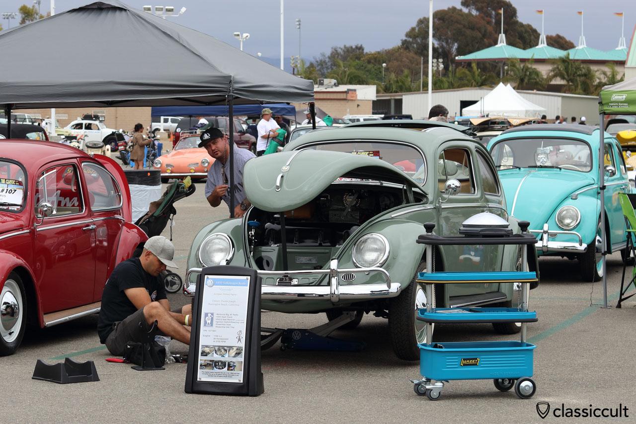 1957 Ragtop Oval Beetle, Gertrude from Huntington Beach, California, The Classic VW Show 2016