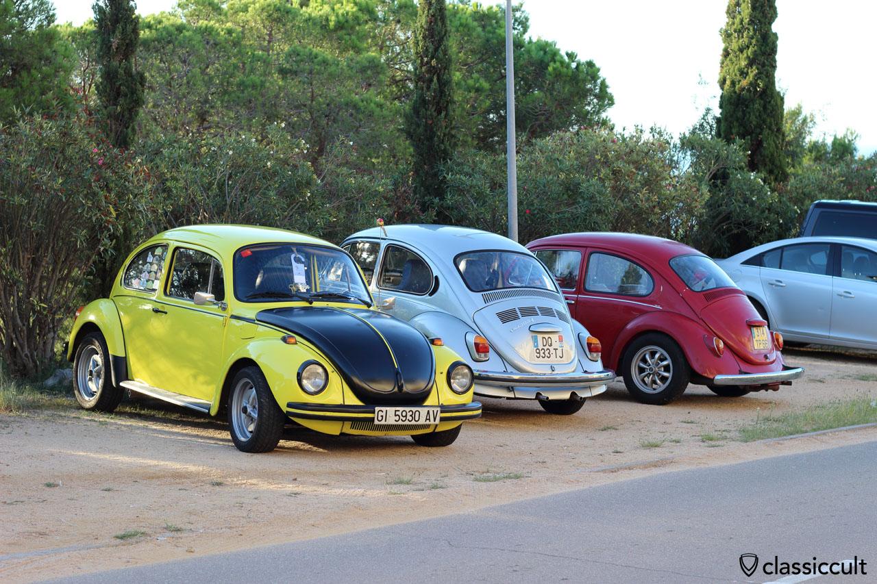 Aircooled VWs parking at Club Aire Libre