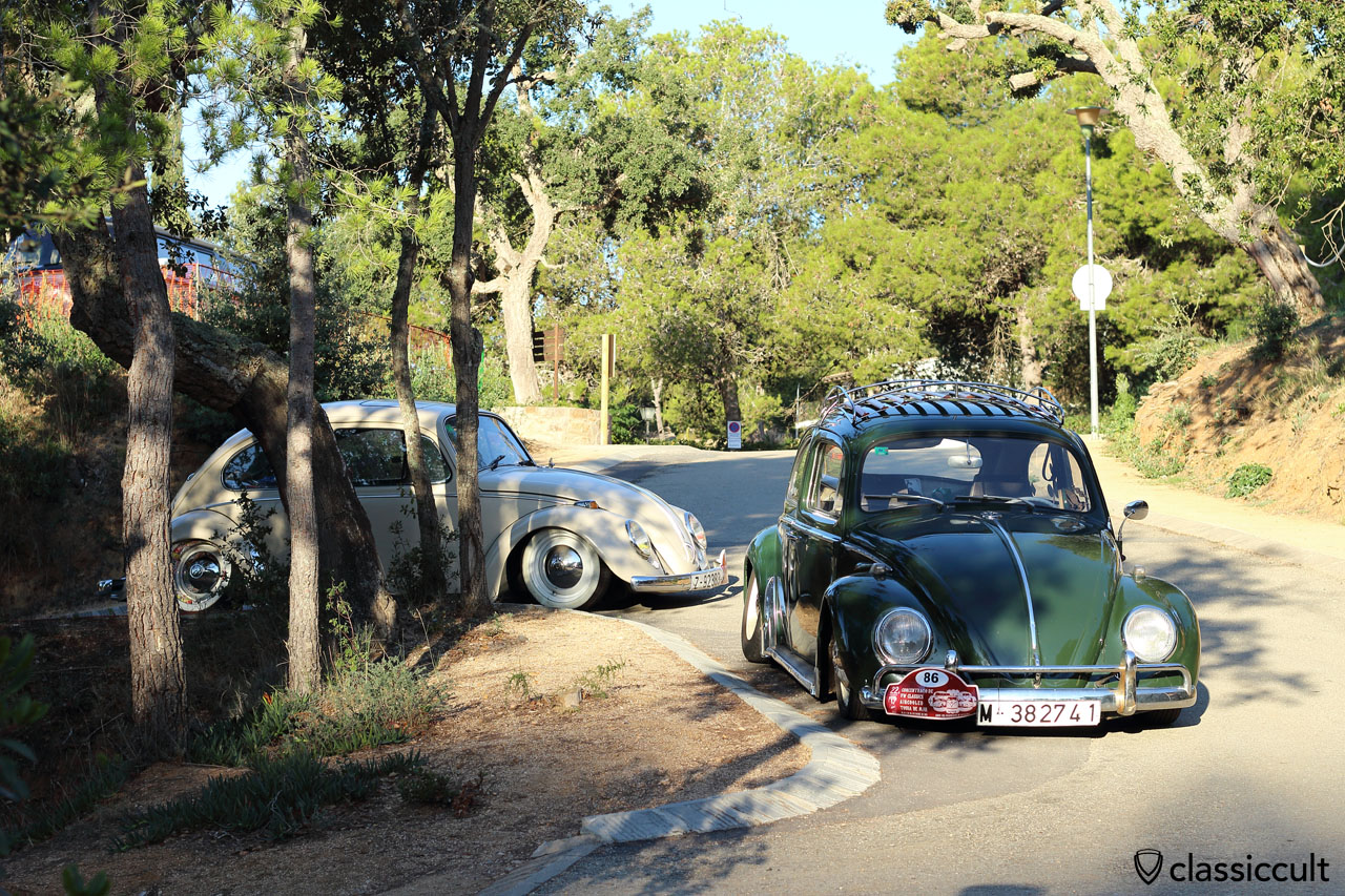 lowered VW Beetle, Classic Meeting Tossa de Mar 2015
