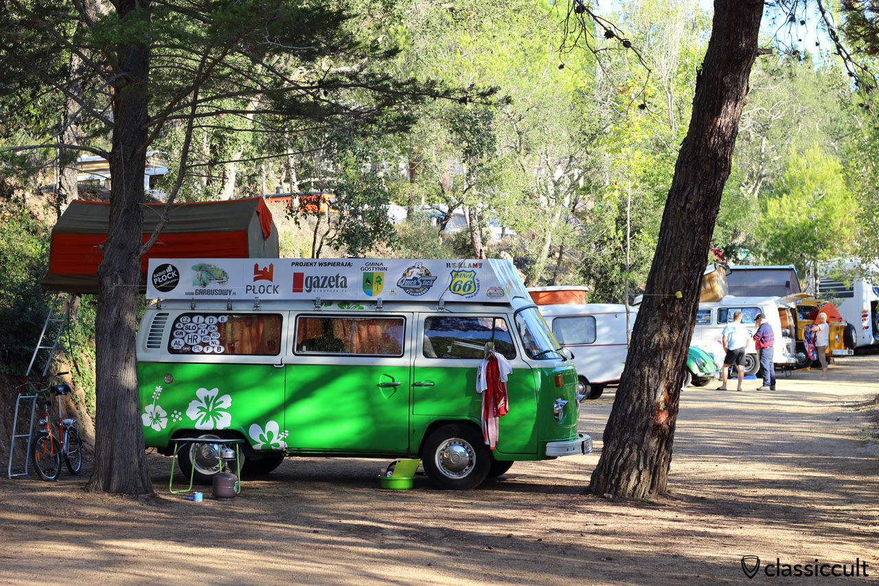 Camping at #22 Classic VW Meeting Tossa de Mar