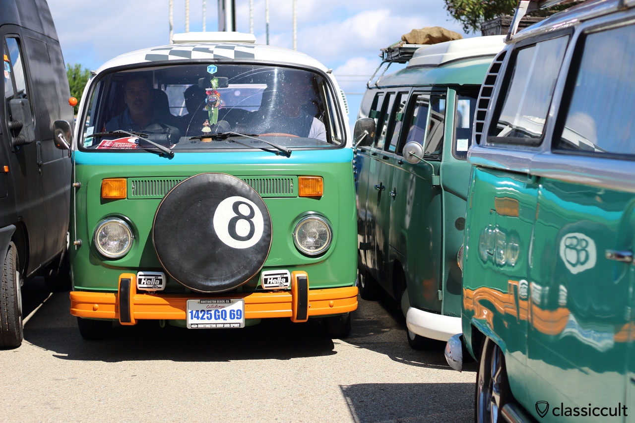 VW Bus just fits, very busy at lunch time…