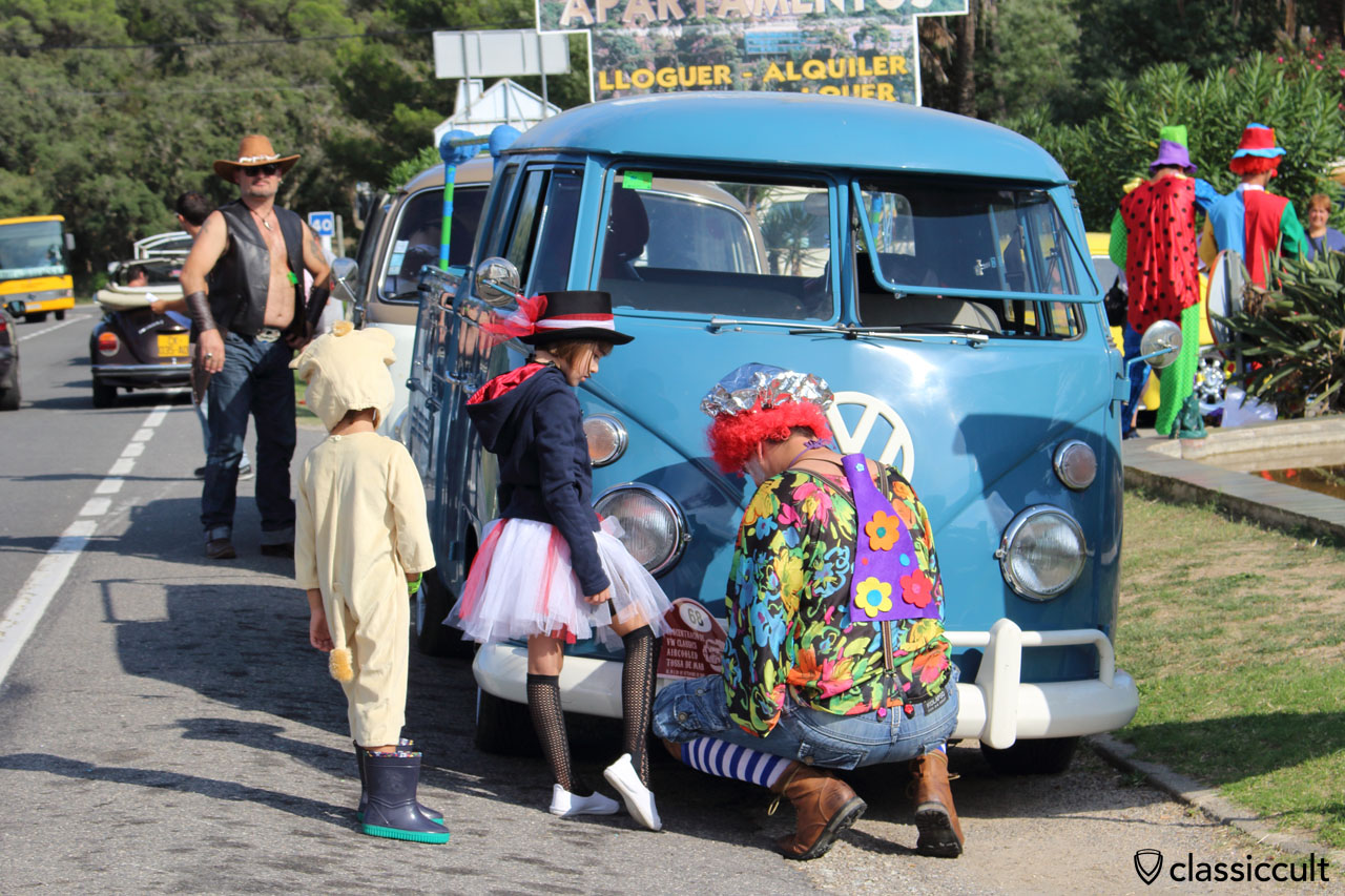 VW Fans getting ready for the Costa Brava Touristic Rally, Tossa de Mar VW Meeting 2015