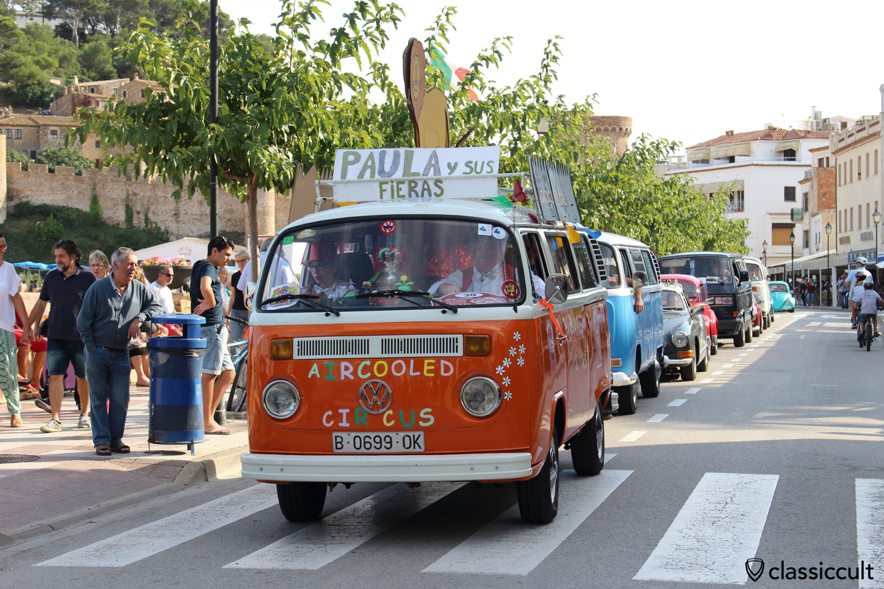 Tossa de Mar beach front, air-cooled VW Meeting 2015