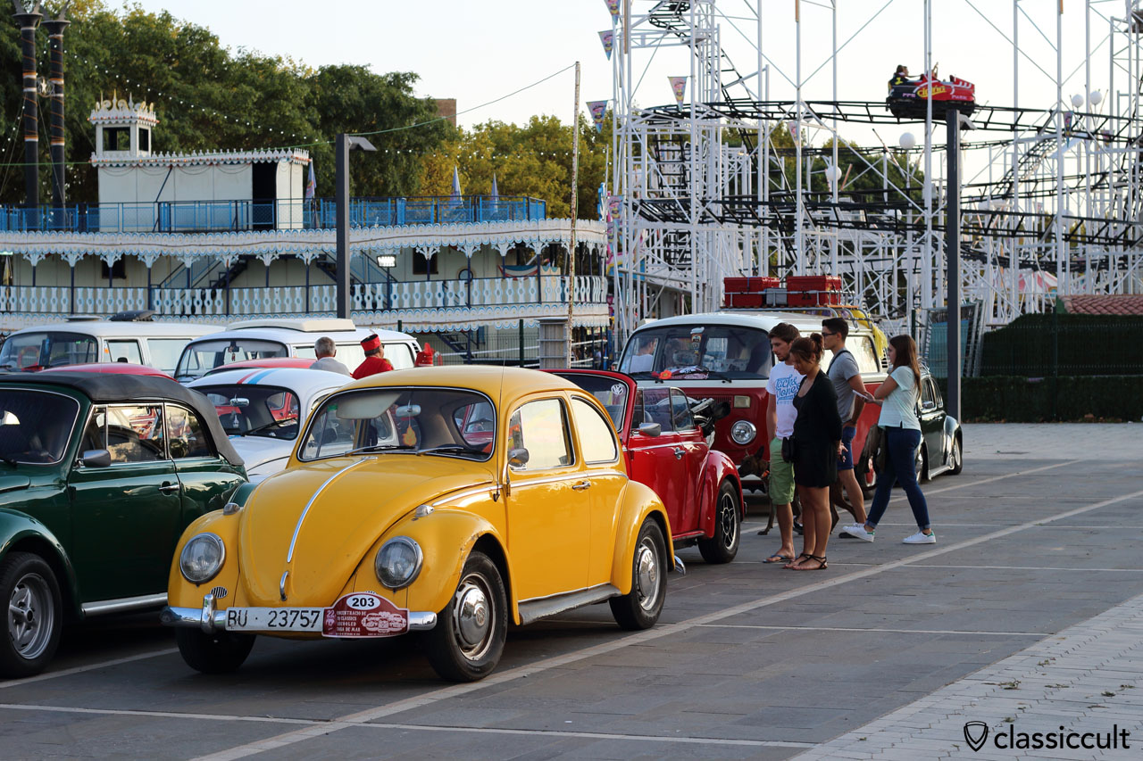 Castell-Platja d'Aro VW Meeting car park and Magic Park in the background