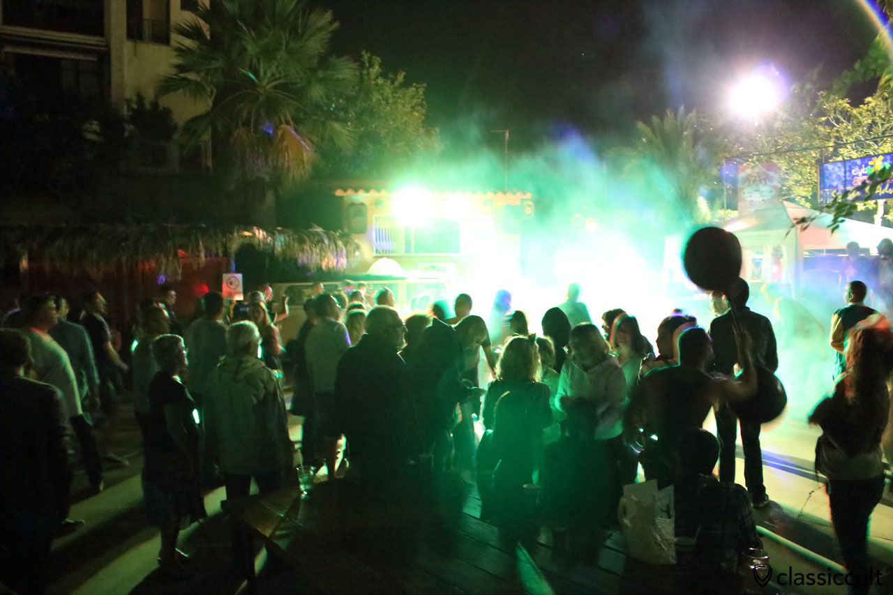 Party time at the Aire Libre Club's arena, 11:39 p.m., Saturday 19th September 2015