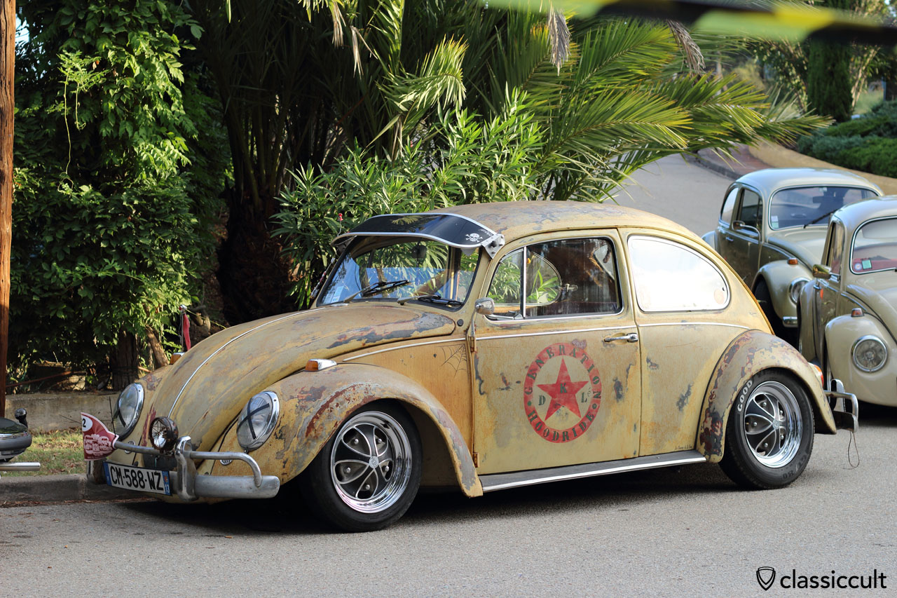 slammed Patina VW Bug