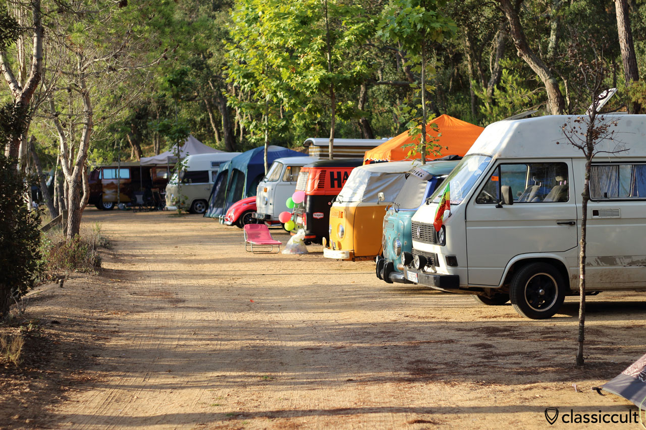 Campground, Tossa de Mar VW Meeting 2015, Sunday, 8:36 a.m.