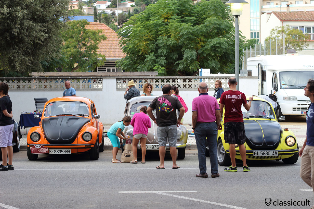 VW Beetles in Tossa for Show and Shine