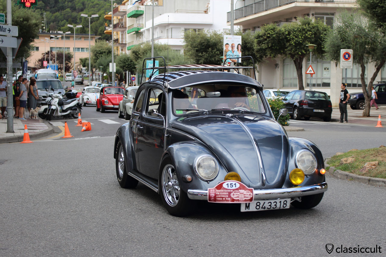 VW Beetle with accessories
