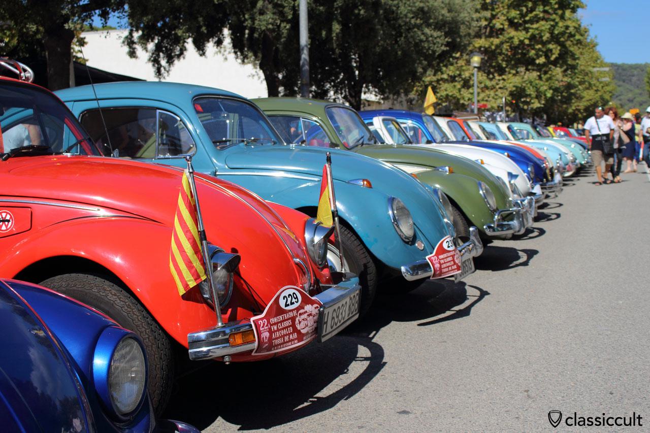 VW Beetle line up, Tossa VW Meeting # 22