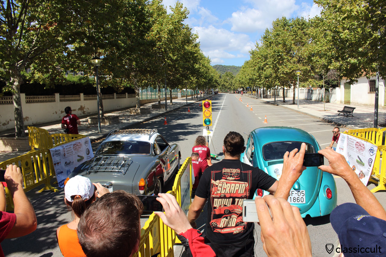 Drag race at Tossa de Mar VW Meeting #22