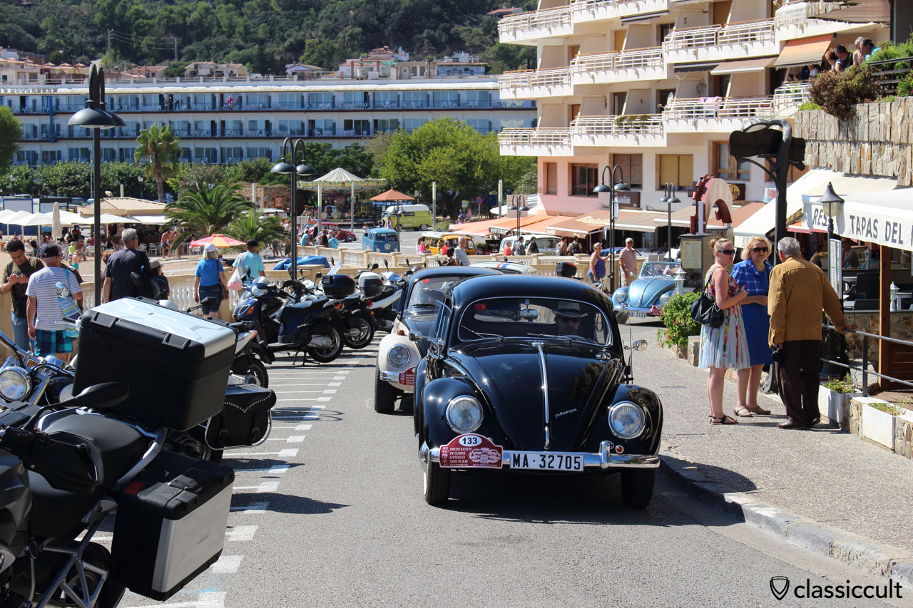 VW fans cruising along the beach, Tossa de Mar 2015