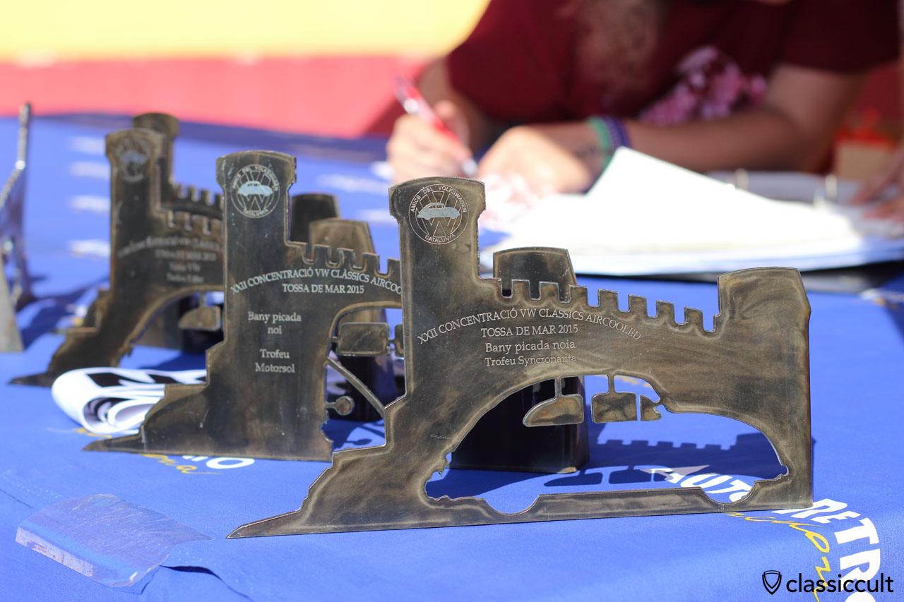 Trophies of the VW Meeting #22 in Tossa de Mar