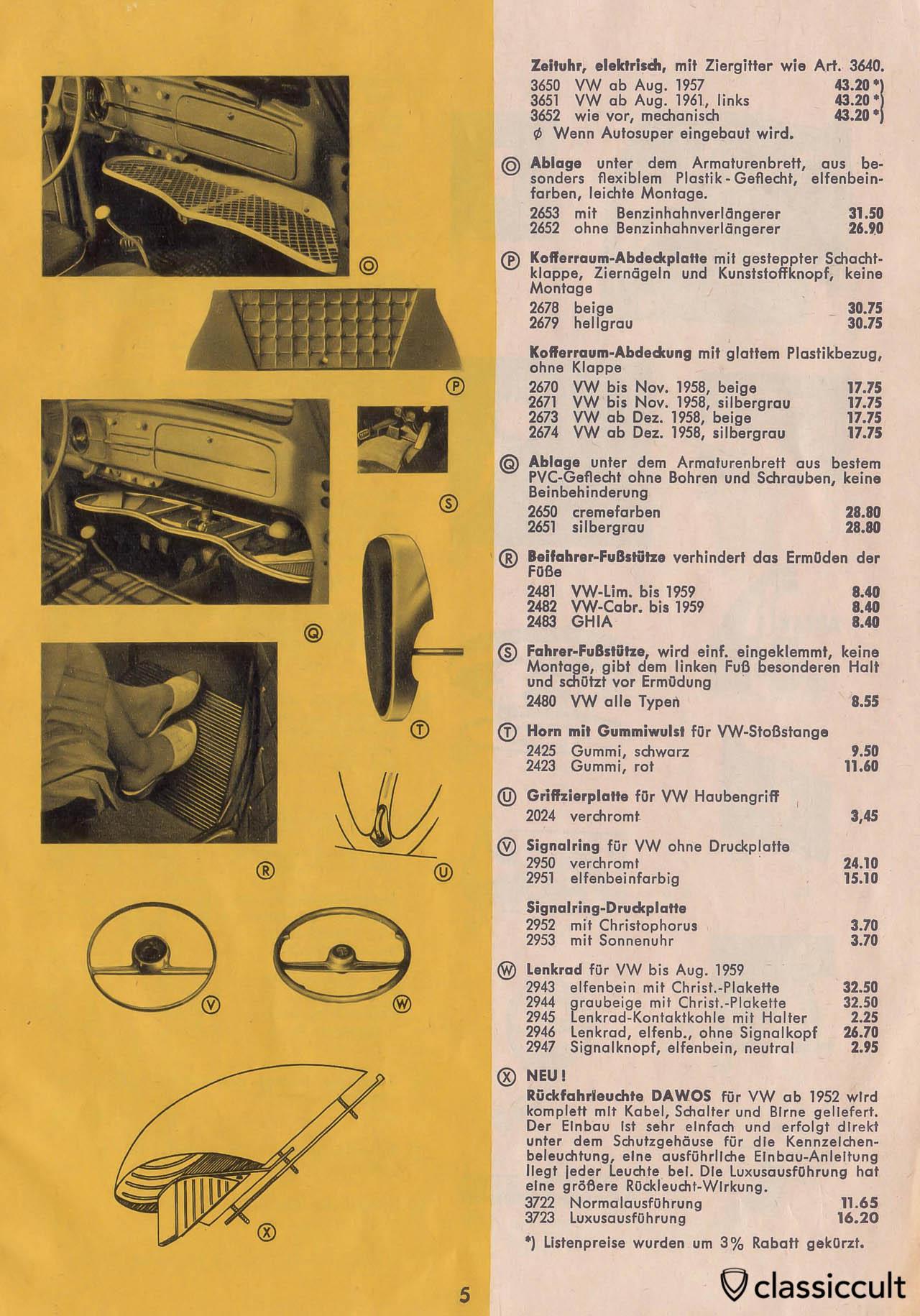Vintage VW Beetle Accessories Catalog 1957-1965 | classiccult
