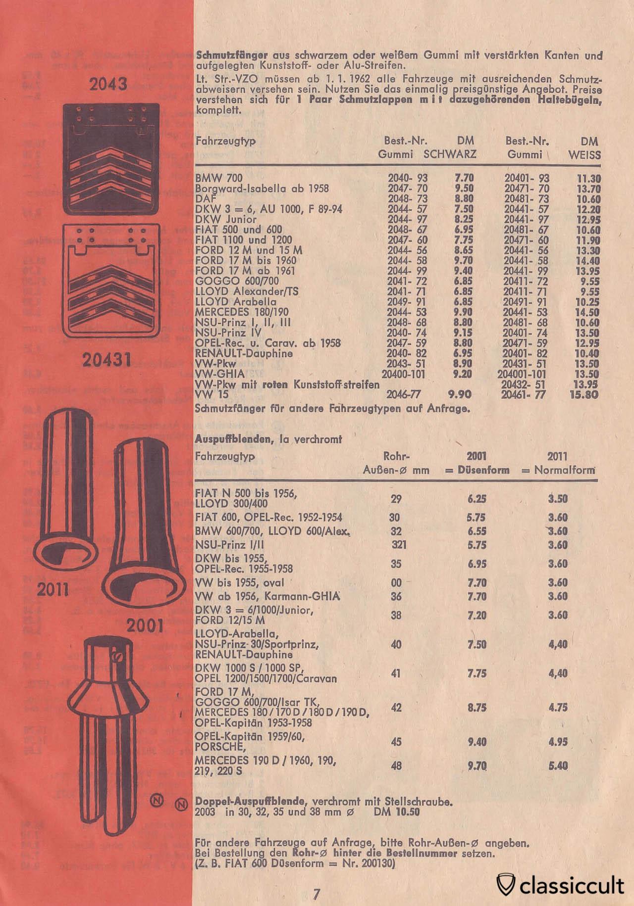 Vintage VW Beetle Accessories Catalog 1957-1965   classiccult