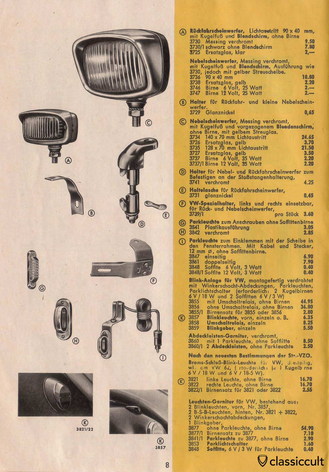 Vintage VW Beetle Accessories Catalog 1957-1965 | classiccult