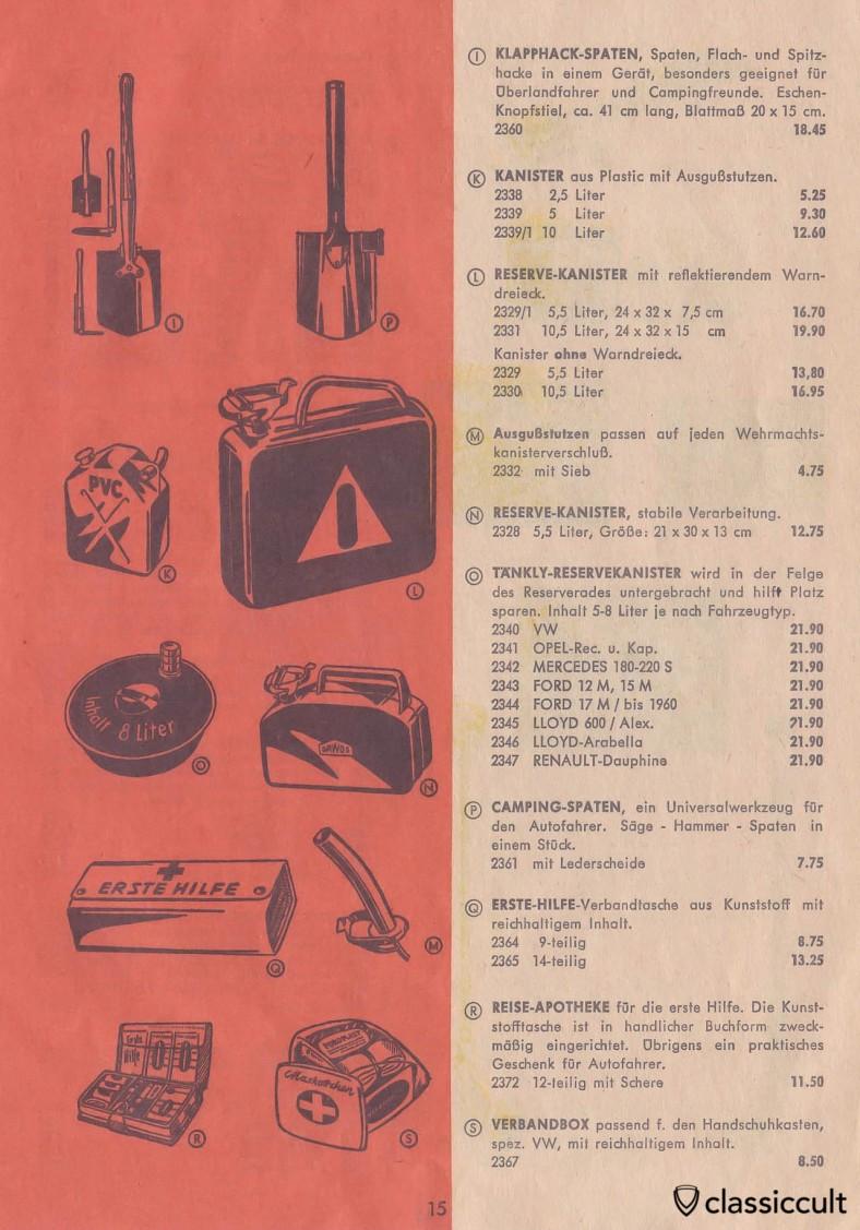 Maskottchen first aid box for VW Oval Bug glovebox