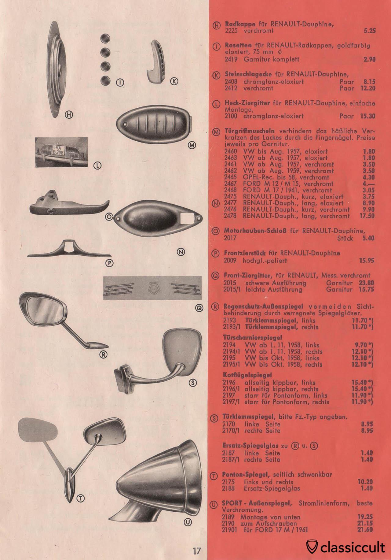 Vintage Vw Beetle Accessories Catalog 1957 1965 Classiccult