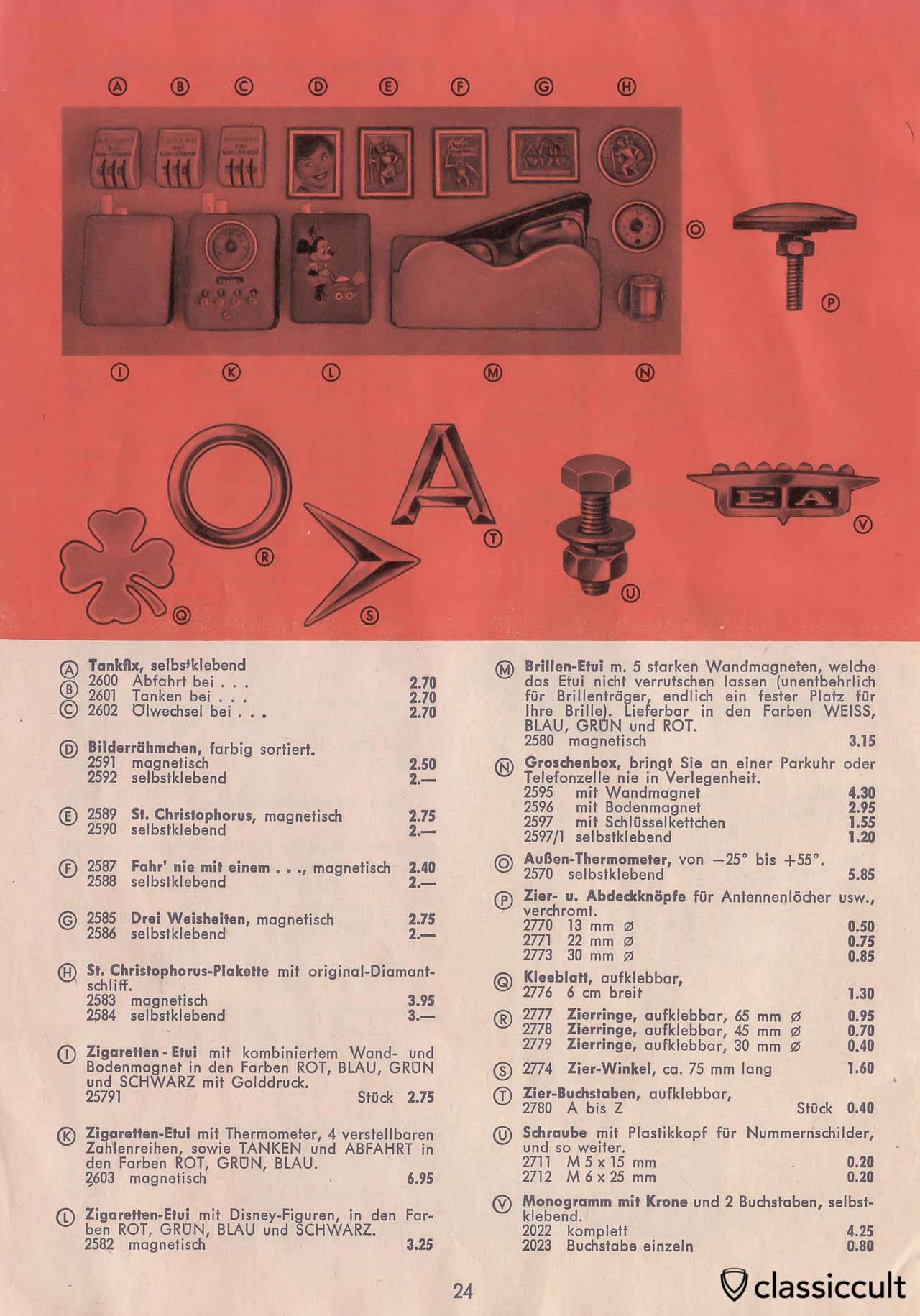 Vintage Accessories Automotive Catalog Germany