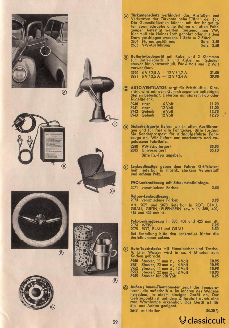 Vintage Accessories Automotive Catalog Germany X