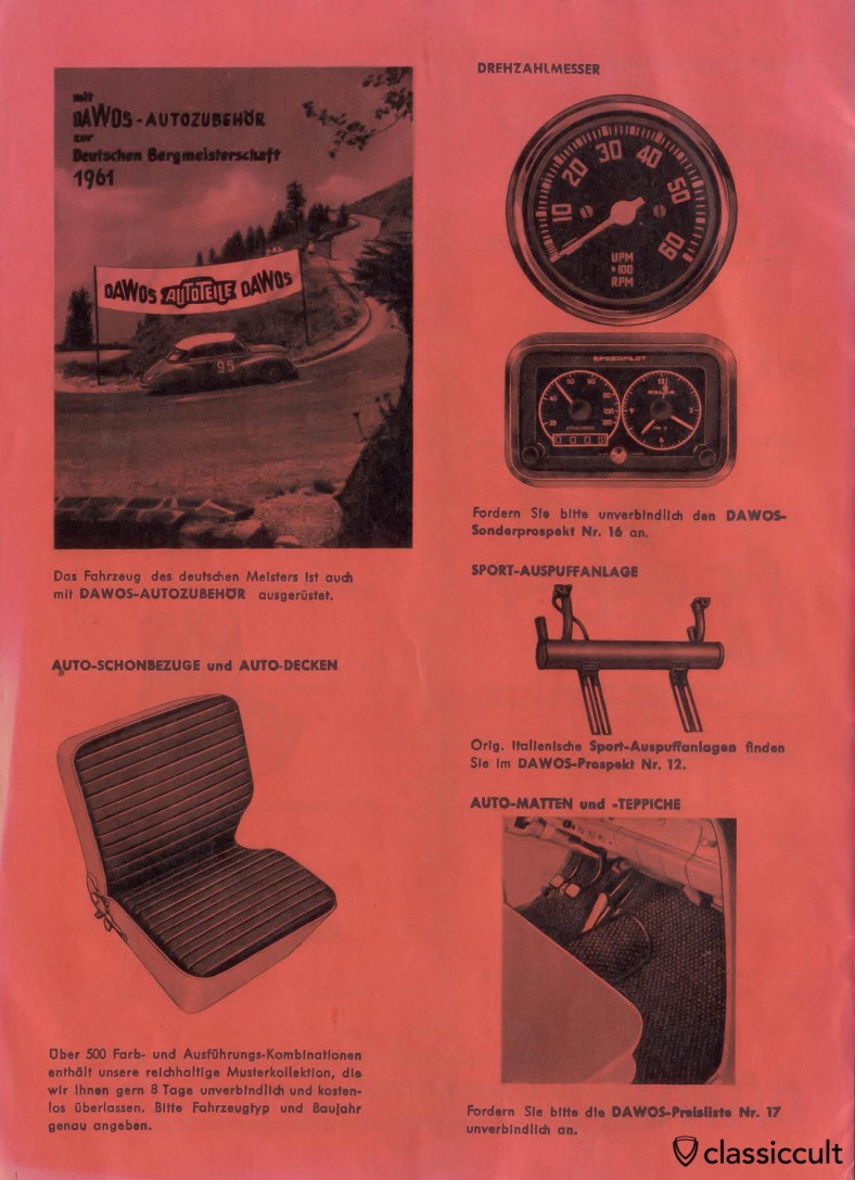 Vintage speed 4 Tip Mufflers for VW Beetle